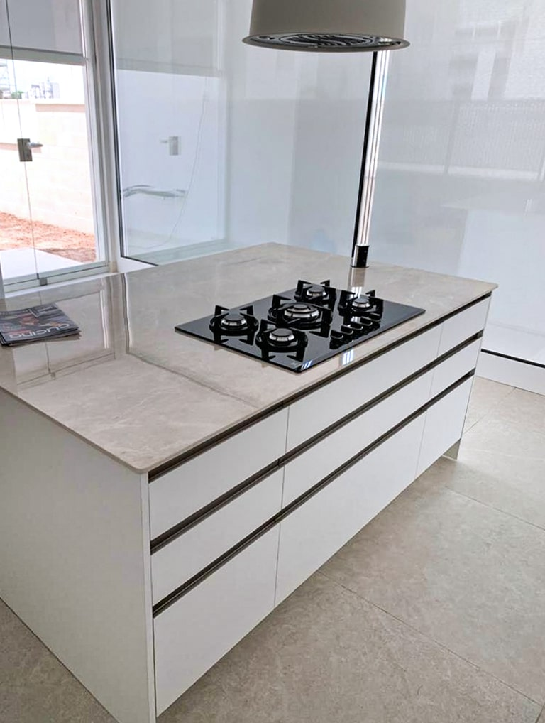 Cucina bianco opaco